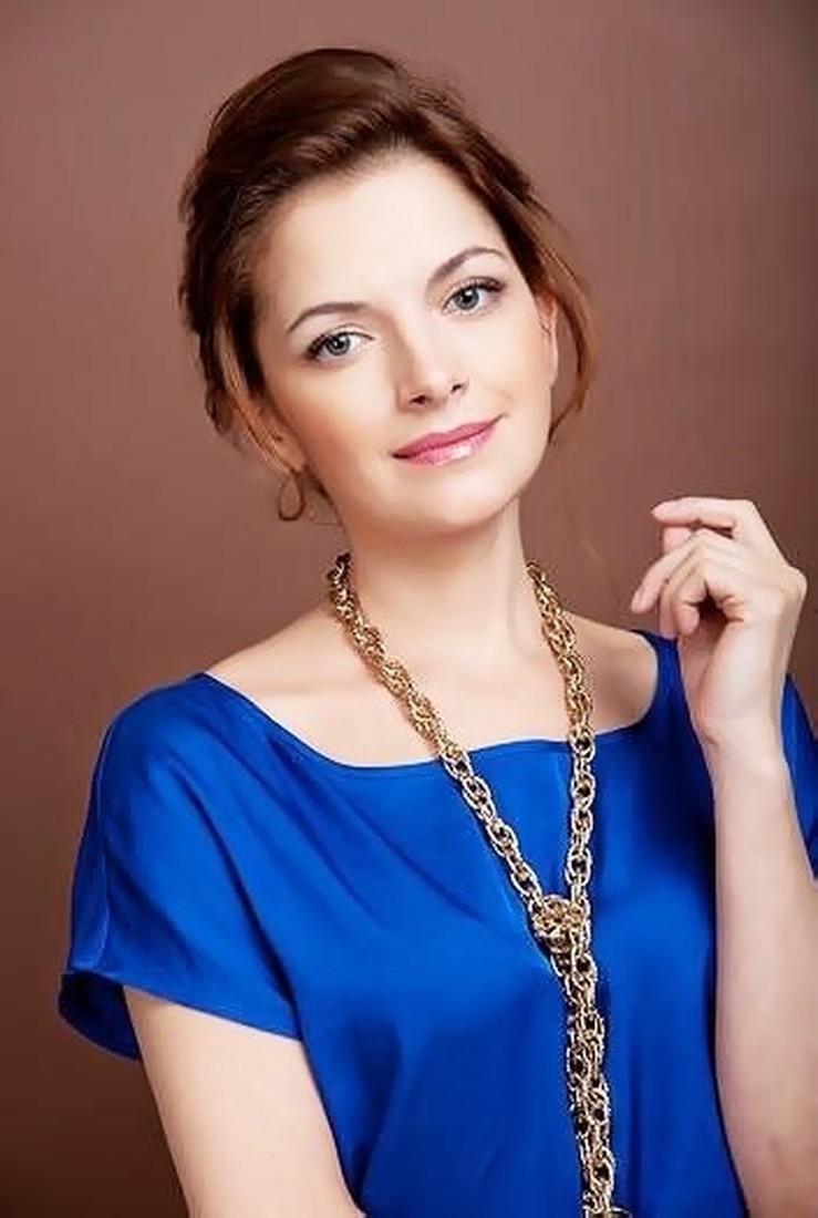Фото 1. Наталия Юнникова в студии.