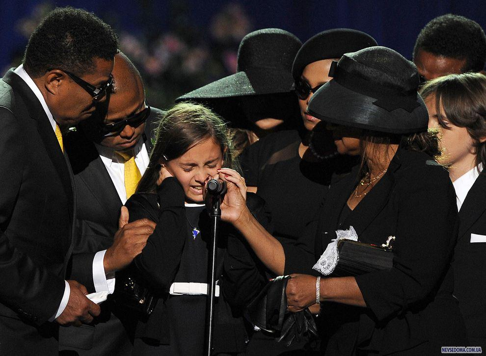 Рисунок 4. Речь дочери Пэрис Майкл Кэтрин Джексон на церемонии прощания