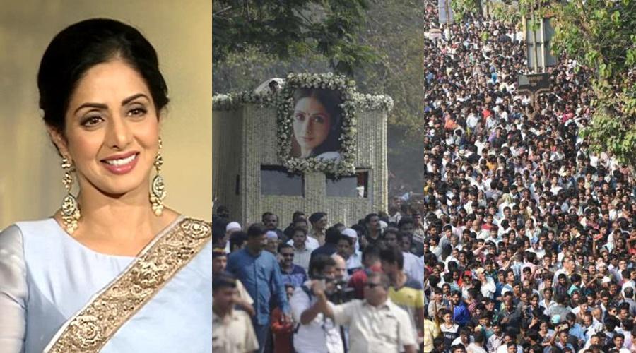 Рисунок 1. Тысячи индийцев вышли проститься с любимой актрисой
