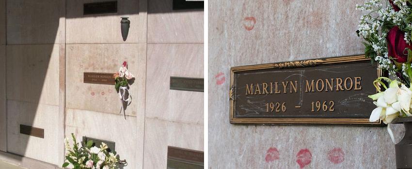 Рисунок 2. Ячейка с прахом Мэрилин Монро на Вествудском кладбище
