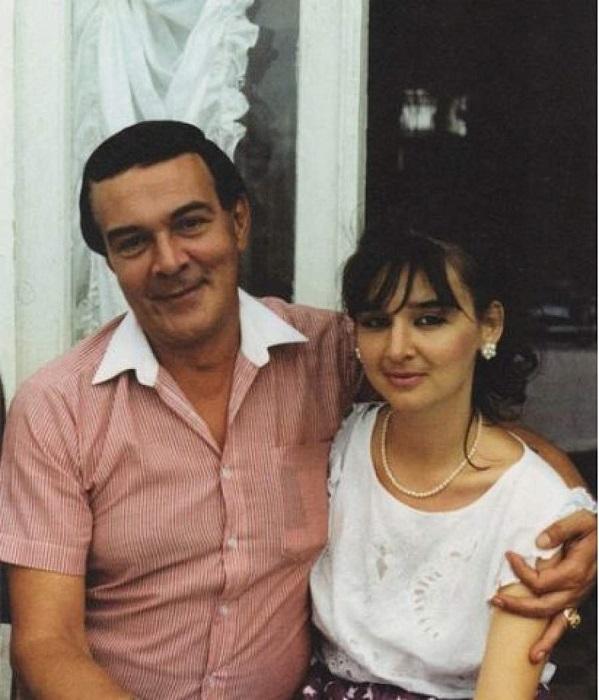 Рисунок 4. Муслим Магомаев с единственной дочерью Мариной