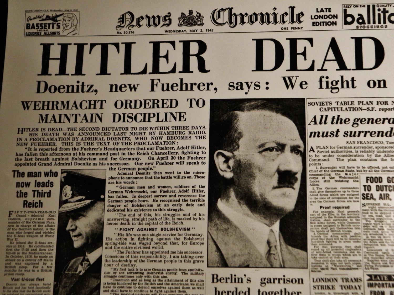 Рисунок 1. Публикация о смерти Гитлера