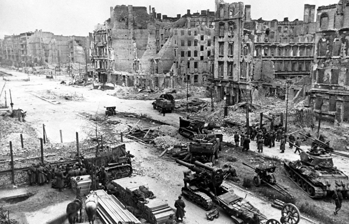 Рисунок 3. Обстрел Берлина