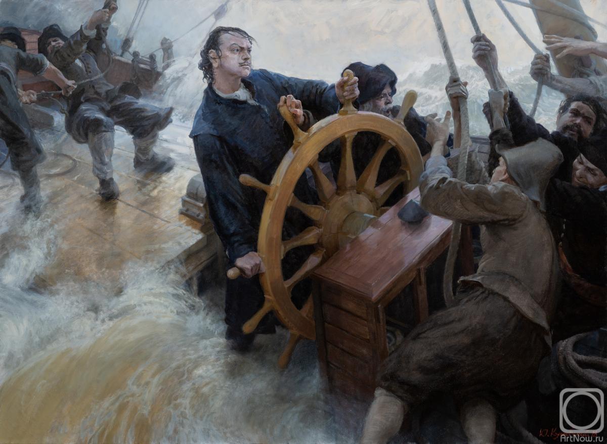 Рисунок 3. Петр I на корабле