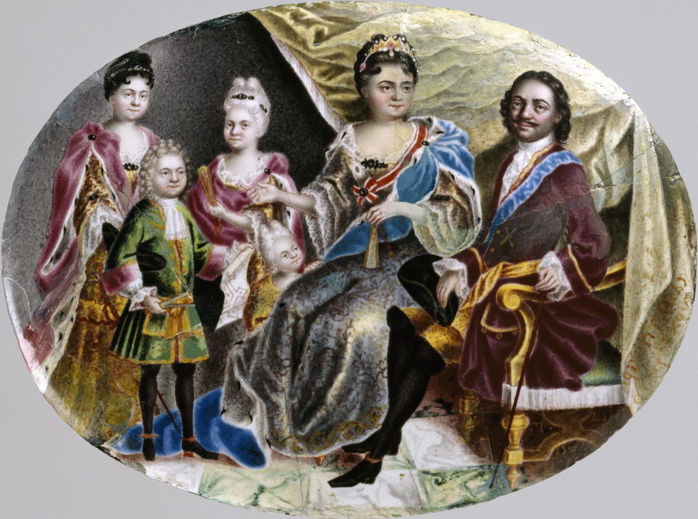 Рисунок 4. Семейный портрет Петра