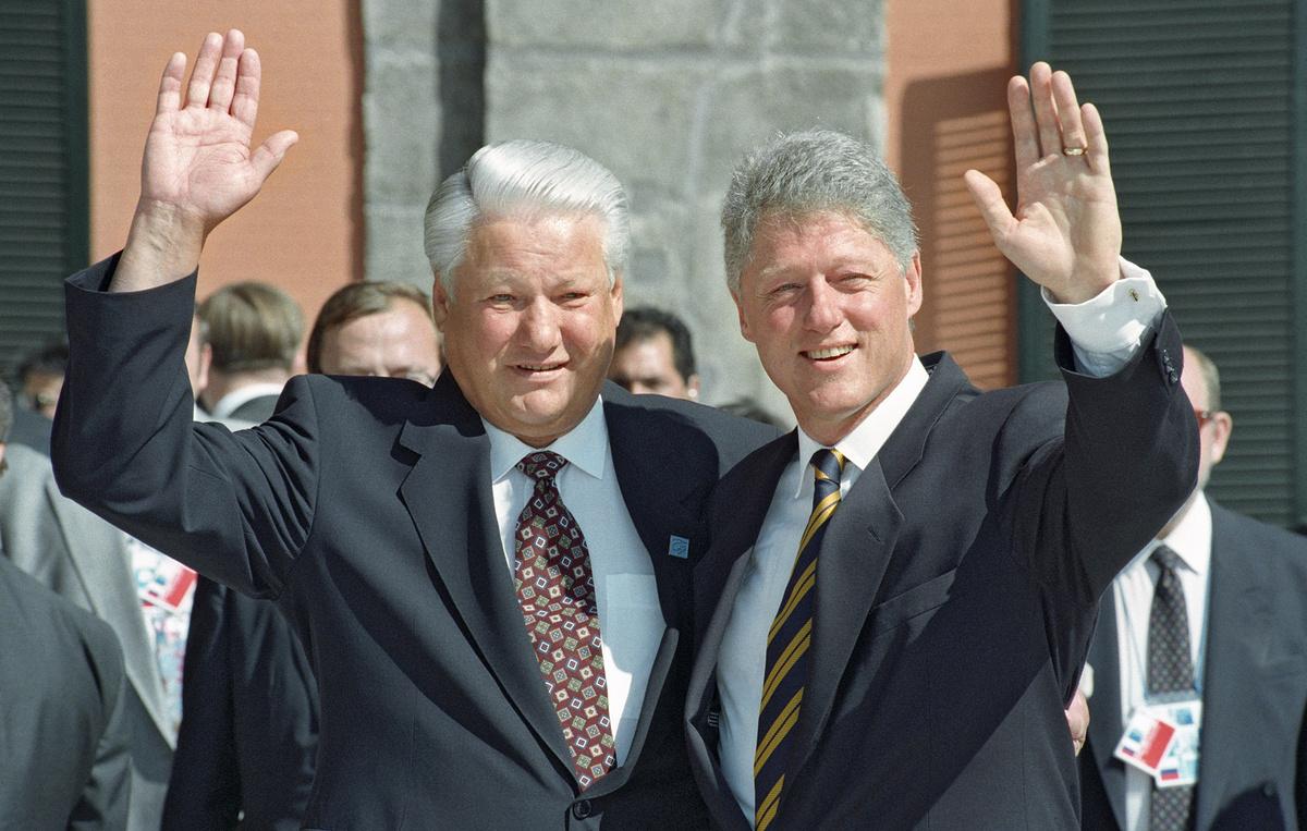 Рис.3 Борис Ельцин и Билл Клинтон