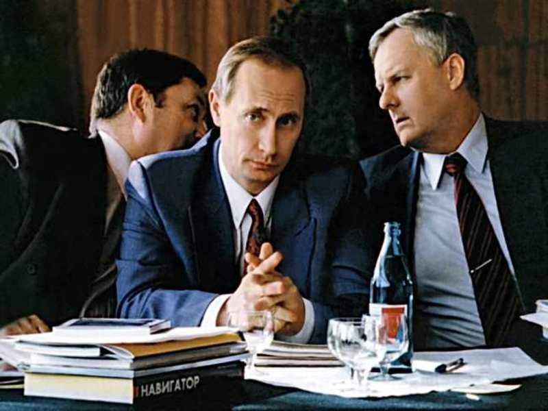Рис.1 В. Путин и А. Собчак