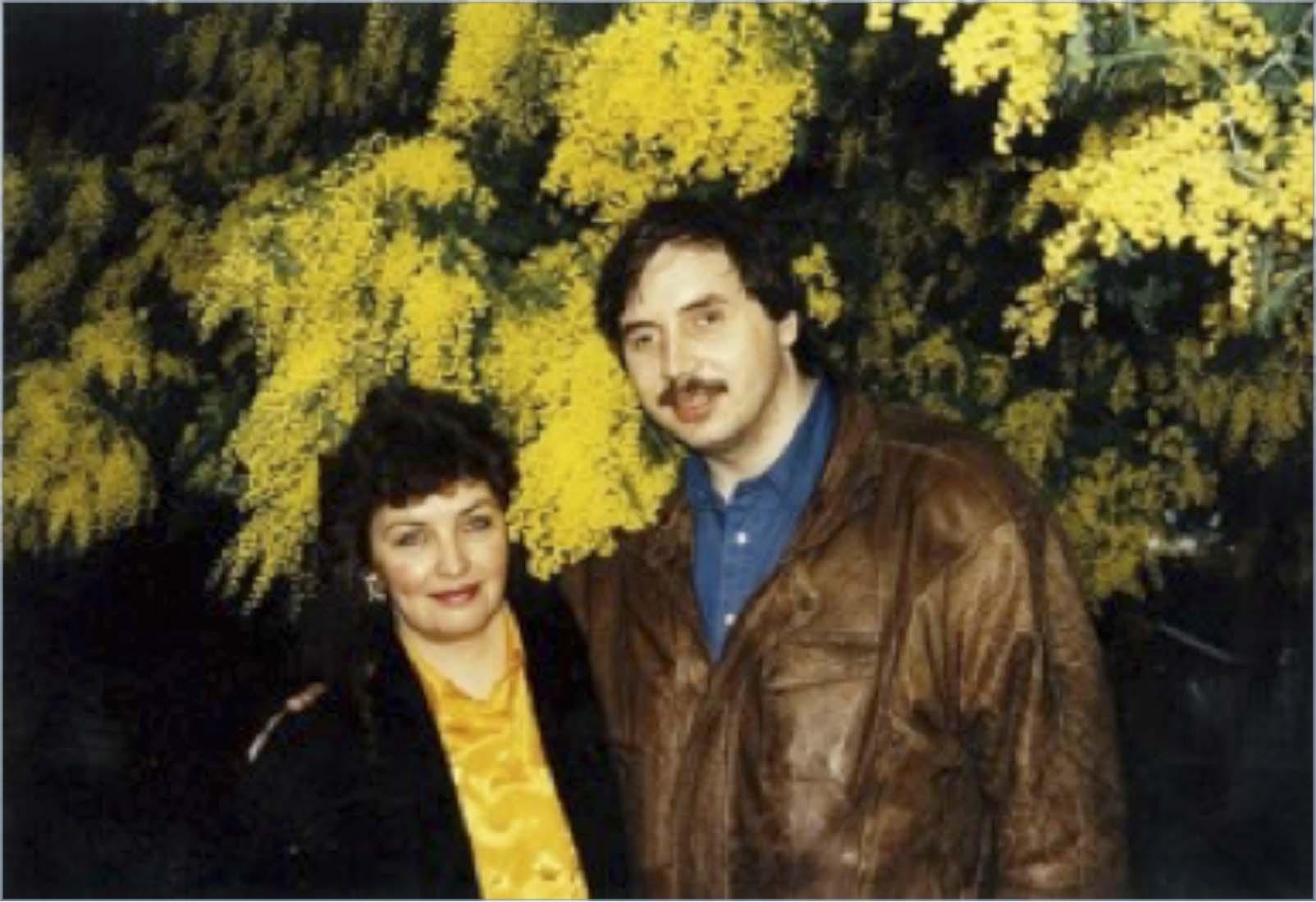Рисунок 3. Левашов с супругой Светланой