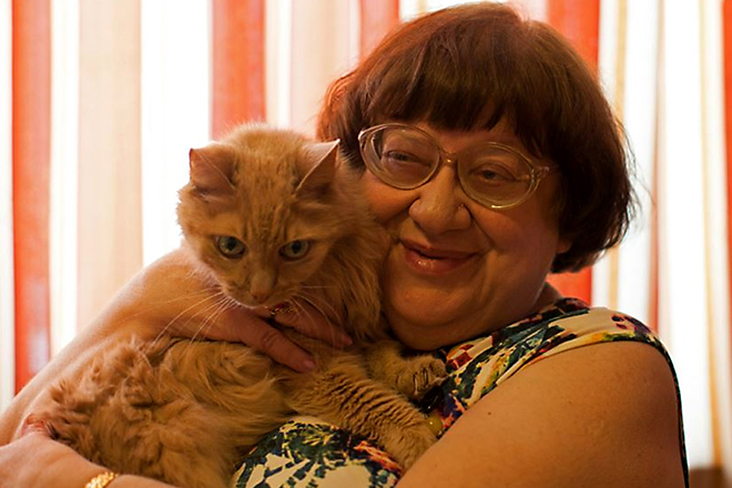 Рисунок 4. Новодворская и кот Стасик
