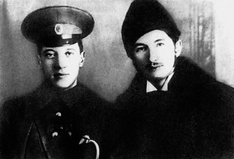 Рисунок 3. Н. Гумилёв и С. Городецкий