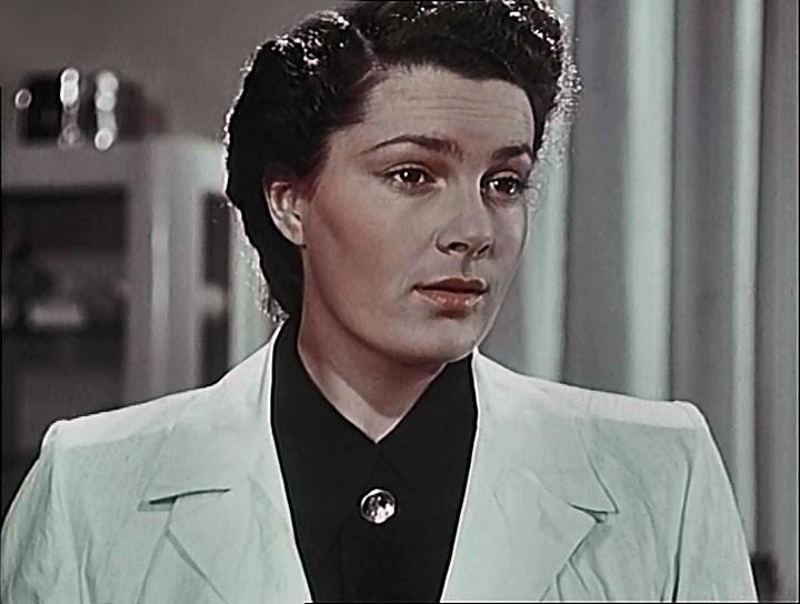 Рис.4 Кадр из фильма в «Мирные дни» (1950)
