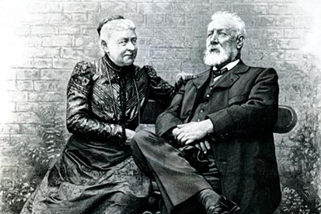 Жюль Верн с женой