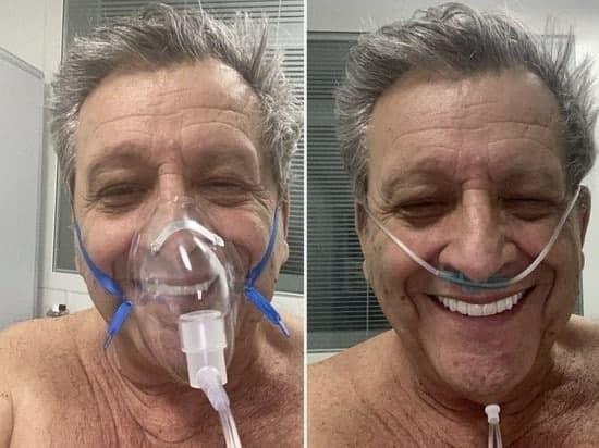 Даже с кислородной маской он улыбался