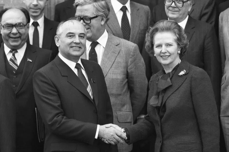 На переговорах с Маргарет Тэтчер, 1984 г.